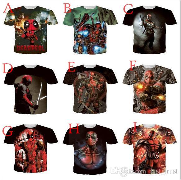 2016 Hot MARVEL Filme Ninja X homem Deadpool 3D Dos Homens mulheres camisetas Superhero Weave XI Novos Mutantes Tees camisas Dos Homens