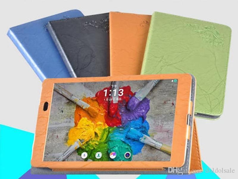 Lüks Baskı Çiçek PU Deri Kılıf için LG Gpad 3 8.0 V525 G Pad X 8.0 V521 Tablet Kapak + Stylus Kalem