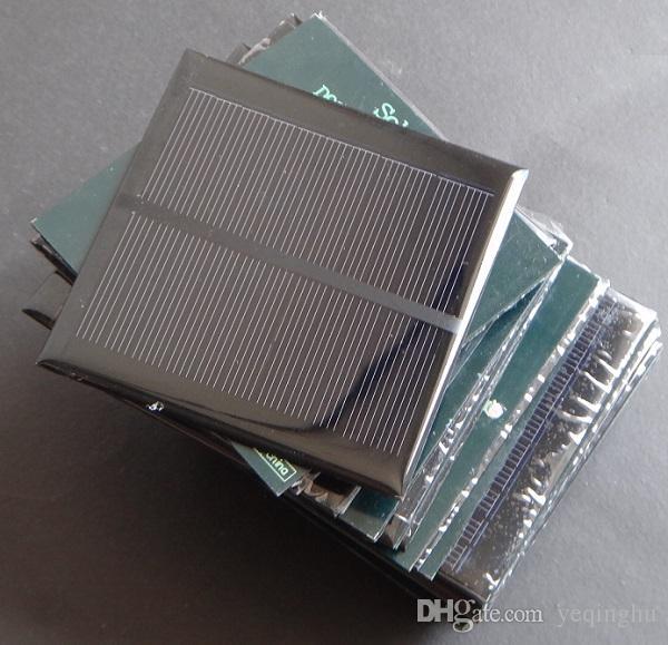 도매 태양 전지 5.5V 1.2W 미니 Monocrystalline 태양 전지 패널 98x98 * 3MM 작은 전원 Appliances/ 에폭시 무료 배송