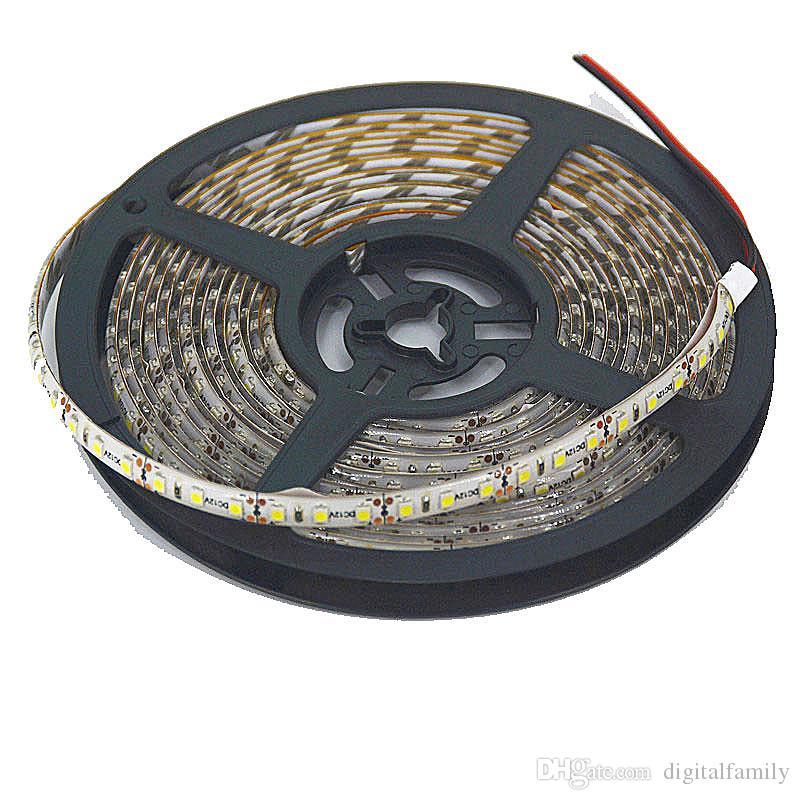 Gorąca wyprzedaż ! 5m / partia IP65 Wodoodporna 3528 600 LED Strip Light Taśmy Taśmy Super Bright 120ed / M Ciepłe białe zimne białe niebieski zielony czerwony led pasek