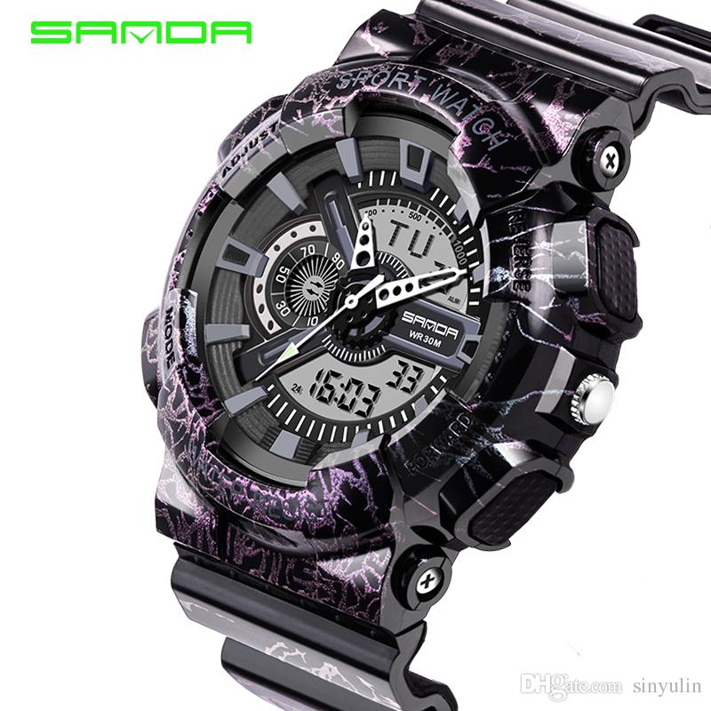 b63f9298427 Mens Watches 2018 SANDA Fashion Watch Men G Style Shock Military Waterproof  Wristwatches Luxury Analog Digital Sports Watches Low Price Watches  Wristwatch ...