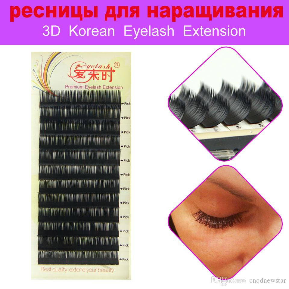 4 Trayseyelash Extensions 3d Individual Lashes Korea Silk Mink
