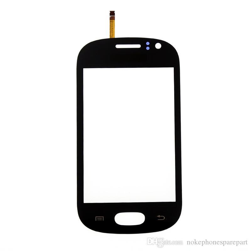 Peças negras brancas do repalcement do painel do toque do digitador da tela de toque com o logotipo de DUOS para Samsung Galaxy Fame S6810