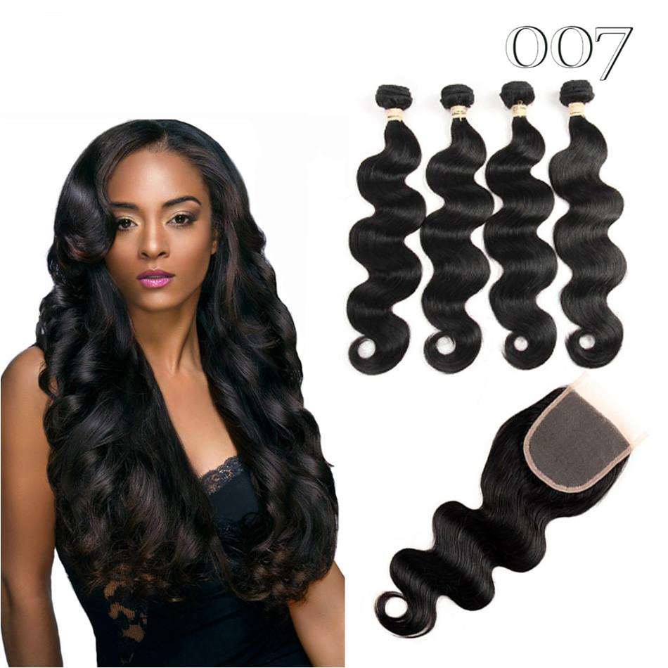 007 Hair Brazilian Body Wave With Closure Amazing Hair Unbelievable