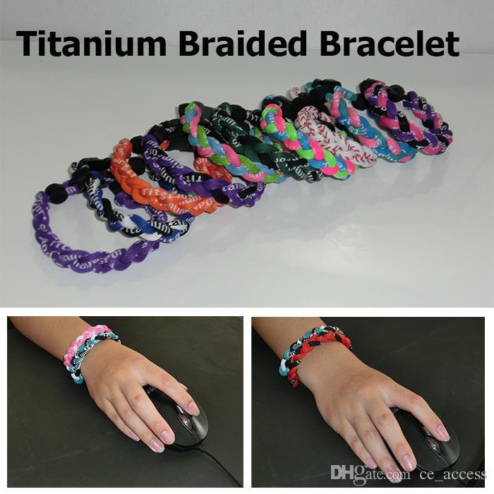 New arrival baseball 3 Ropes Tornado Germanium Titanium Healthy sports Athletes Bracelets