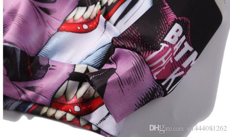 Sudaderas con capucha de Anime 3D impresión suicida escuadrón payaso sudaderas con capucha hombres mujeres manga larga prendas de vestir exteriores nueva sudadera con capucha