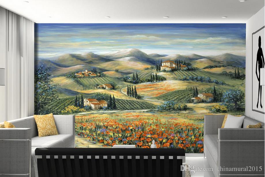 fondos de pantalla para paredes 3 d para sala de estar Pastoral granja campo paisaje naturaleza paisajes pared papel