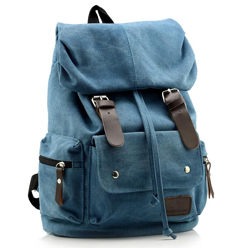 4d7bef413 New 2016 Fashion Men's Backpack Vintage Canvas Backpack School Bag Men's Travel  Bags Large Capacity Travel Backpack Camping Bag