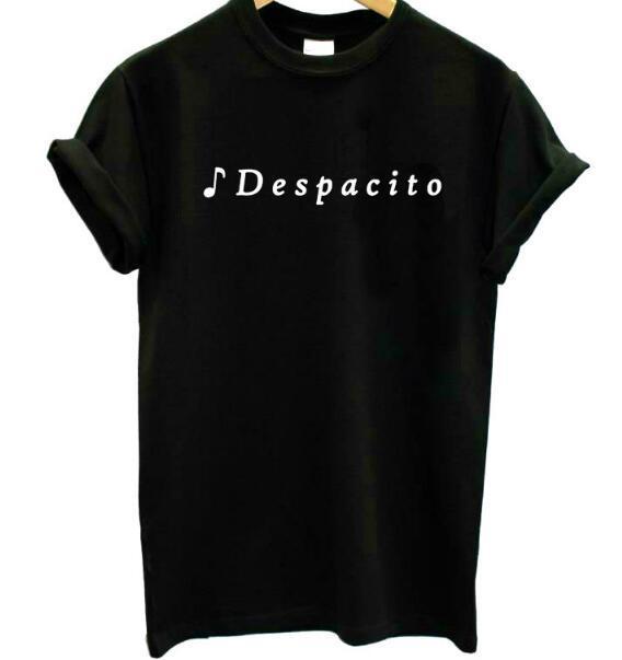 Célèbre Femmes Coton T Casual Pour Hipster Musique Chanson Haut Lettres Fille Shirt Despacito Drôle Lady Tee Imprimer Ygyf7bv6