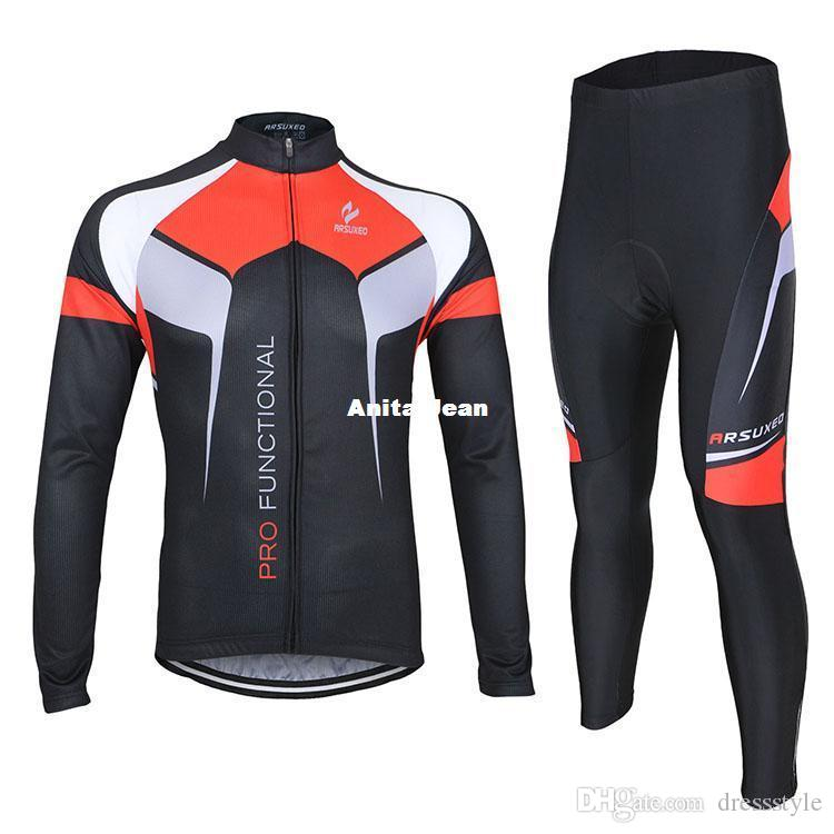 73c4decbc Arsuxeo Autumn Stlye Cycling Jersey Reflective Long Sleeve Bike Bicycle  Jacket Outdoor Sports Excercise Elastic Clothing M 3XL Mountain Bike Shorts  Mtb ...