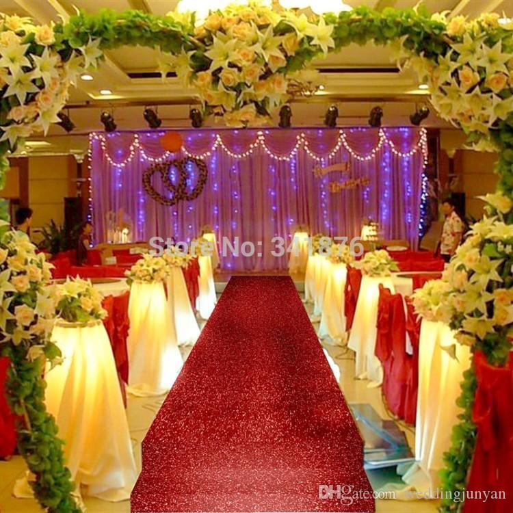 10 Mroll Shiny Red Pearlescent Wedding Aisle Runner Carpet Wedding