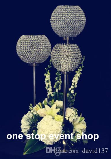 Tall Crystal Ball Wedding Candelabra Centerpiece And Candle Holders For Weddings Chandelier Decorations Party Decoration From David137