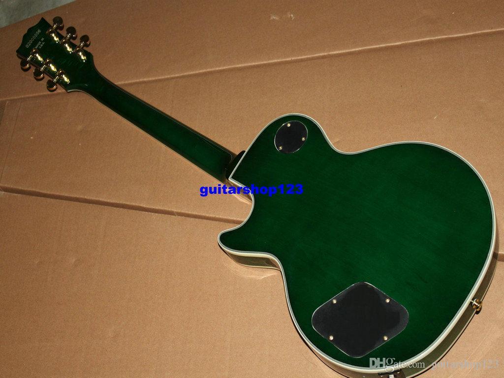 Yüksek Kalite Yeni Yeşil Özel Elektro Gitar Toptan Müzik aletleri