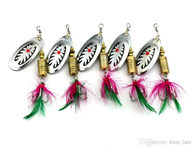 Nouveau Métal Spinner Appâts Dur Bass Leurre De Pêche 7.5cm 10g Pêche À La Mouche Crank Spinnerbaits VIB Lames Carpe Leurres