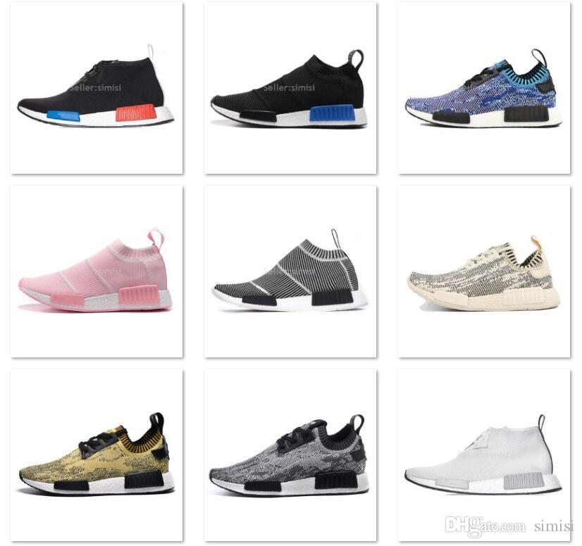 eee96f79d0d47 Double Box NMD Runner Mid Primeknit PK C1 R1 Camo City Sock Mens And Womens  Sports Running Shoes Boys Athletic Shoes On Sale Sports Shoe For Girls From  ...