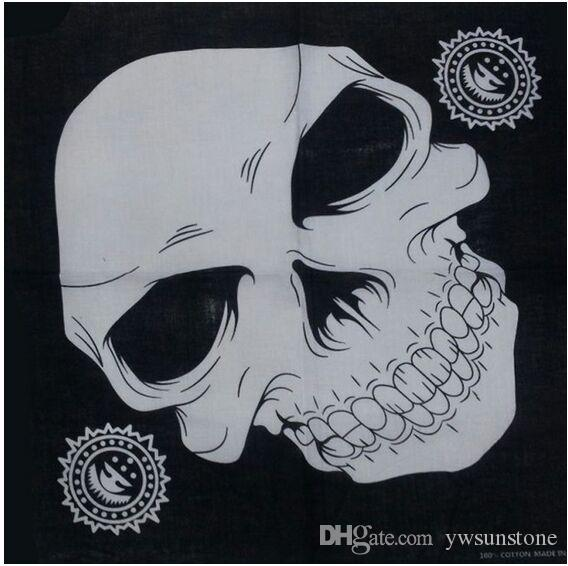 New Half Face skull Mask Bike Motorcycle Neck Scarf 100% cotton bandana Headwrap