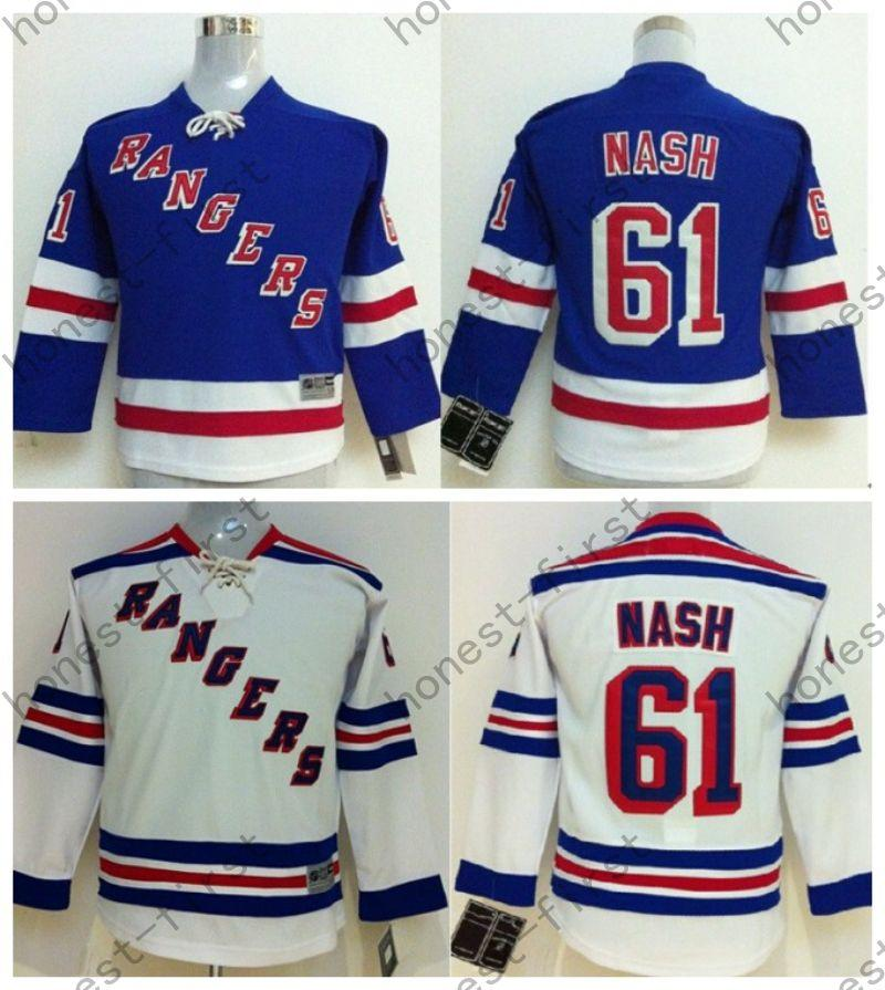 ... Best Youth New York Rangers Hockey Jerseys 61 Rick Nash Jersey Kids  Home Royal Blue Ny ... 3b54545cf