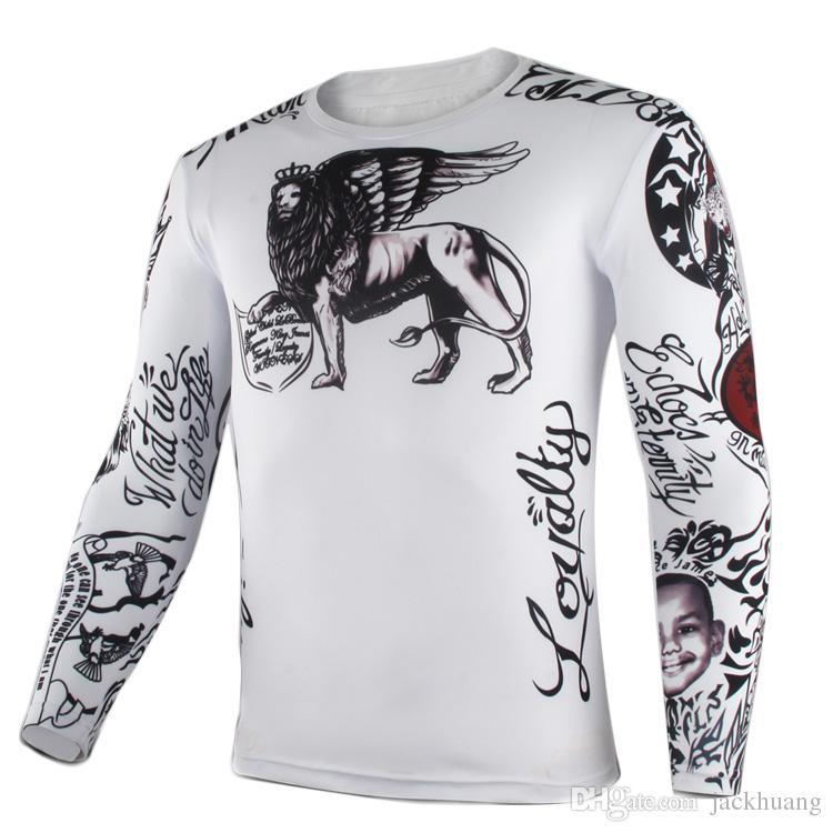 르브론 Raymone 제임스 킹 제임스 농구 스타 문신 코스프레 긴팔 오 - 넥 슬림 티셔츠 티셔츠 탑스