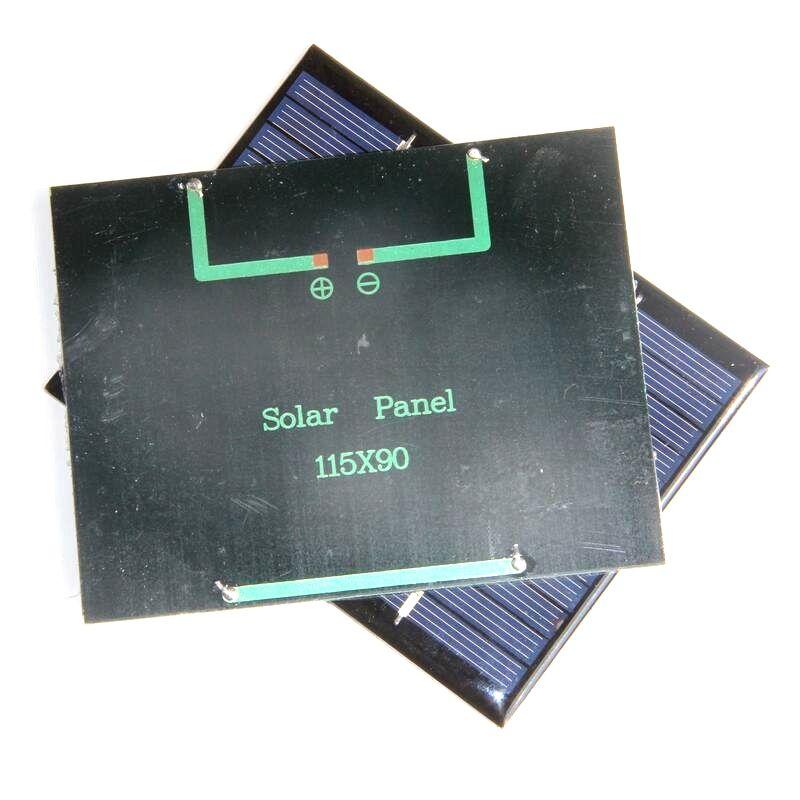Wholesale 12V 1.5W Mini Solar Cells Polycrystalline Solar Panels DIY Solar Module Education Kits Epoxy 115*90MM High Quality Factory