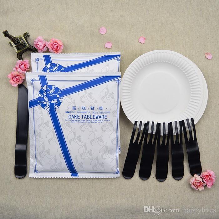 Stoviglie feste Stoviglie feste monouso eventi in casa Bbq Catering feste Compleanno di matrimonio i Teglia torta Pan Heavy Duty Piatti di carta