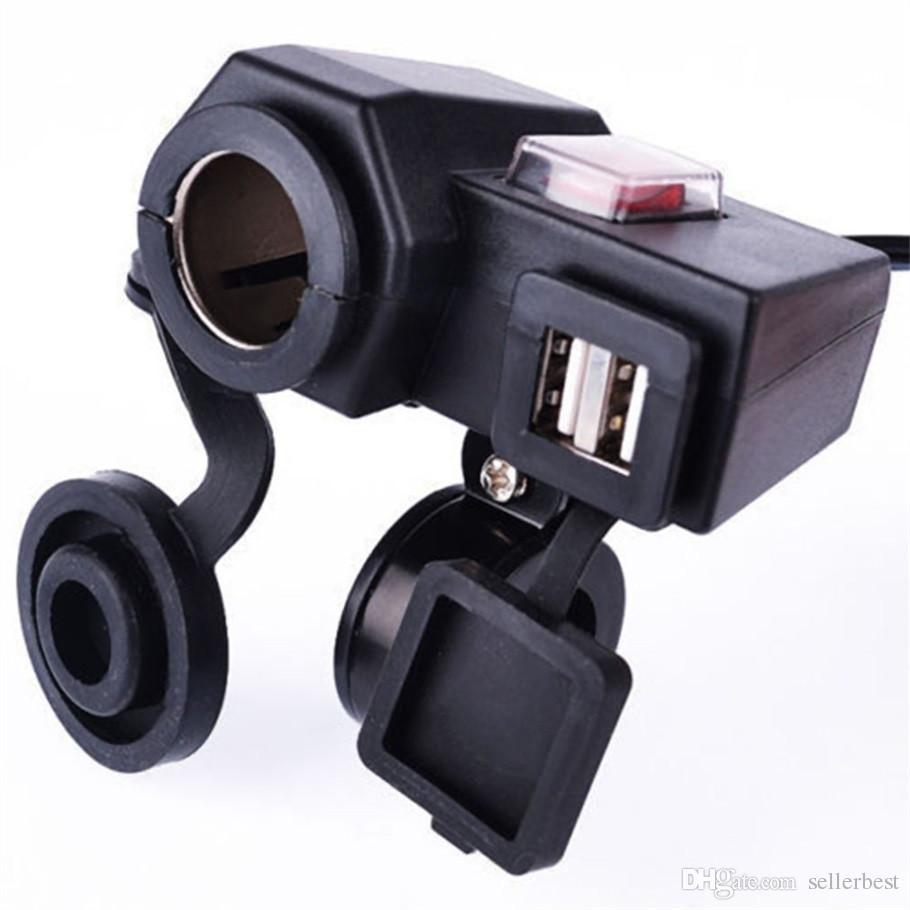 Универсальный мотоцикл MOTO 12 В USB прикуривателя питания вкл/выкл порт интеграции розетка 12 в двойной usb разъем питания заряда водонепроницаемый