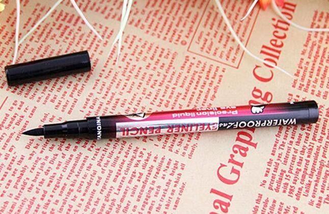 Eyeliner noir imperméable liquide maquillage crayon de contour des yeux beauté
