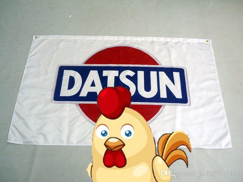 , 100% полиэстер Датсун баннер 100% полиэстер 90*150 см,цифровая печать Датсун гонки 90*150 см флаг