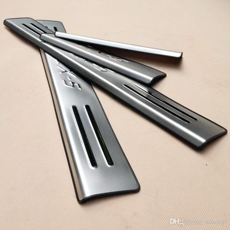 2015 Mazda CX-5 CX 5 CX5 Stainless Steel Door Sill Scuff Plate Welcome Pedal Threshold for 2013 2014 2015 CX-5 Car Accessories