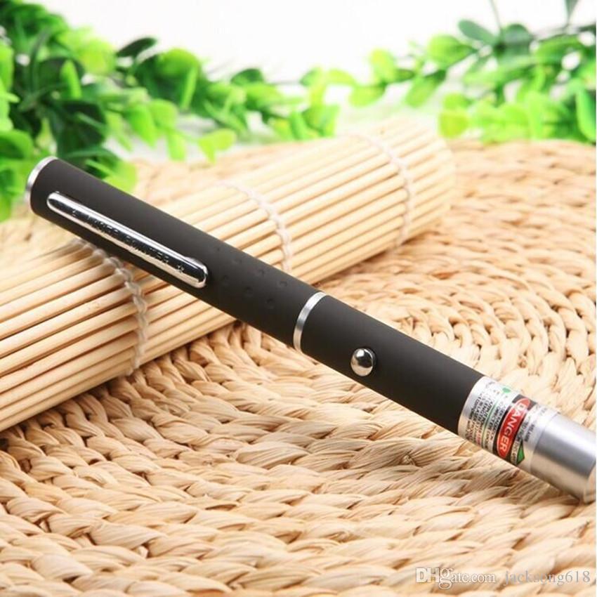 Penna puntatore laser Penna laser a luce rossa 5mW 650nm Beam SOS Montaggio Caccia notturna Insegnamento regalo di natale Pacchetto Opp Commerci All'ingrosso 50 pz / lotto