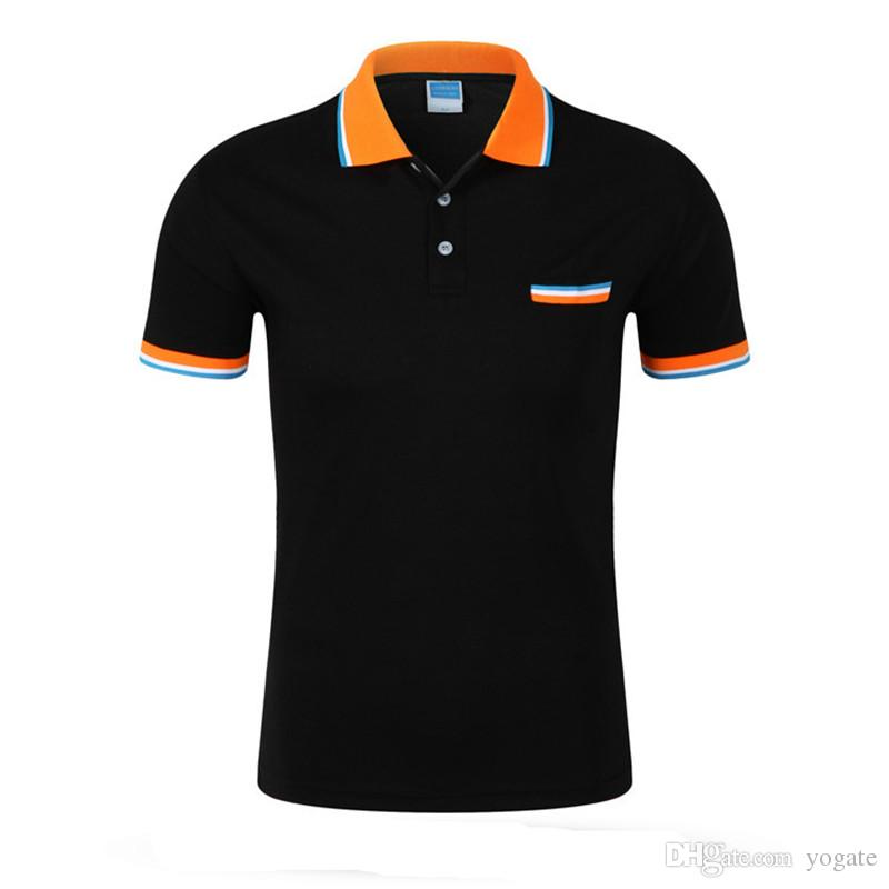 get compre 2018 nuevo top quality mens polo shirt brands algodón de manga  corta del bolsillo b51637e58b662