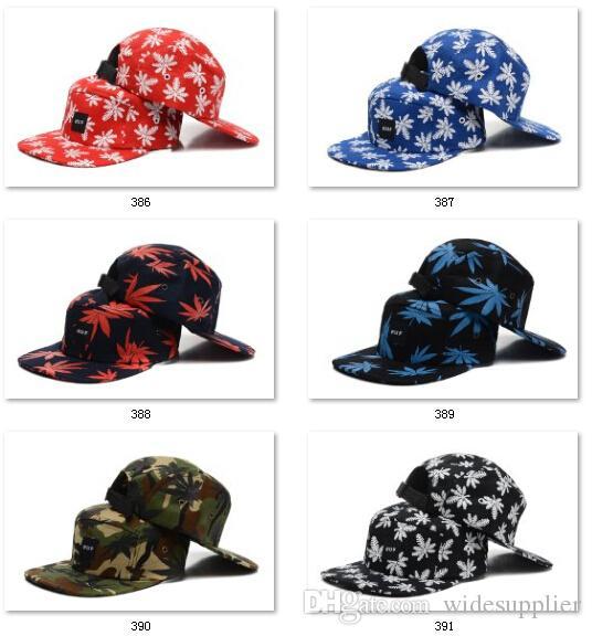 Erkekler için Best Seller Snapbacks Beyzbol Snapbacks bayan Camo Cannabina Şapka Ölü Sinek Sabit Dişli Kaykay Hip-Hop şapka 5 adet Kap Sunhats