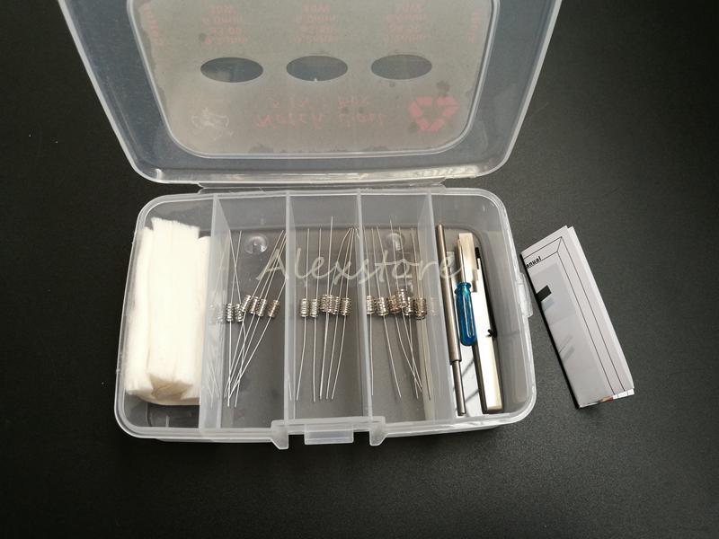 Authentique Tueur de Démon 3 en 1 Prebuilt Notch Bobine SS316L Boîte Kit 0.2ohm Premade fils avec le Japon Muji Outil bricolage en coton bio