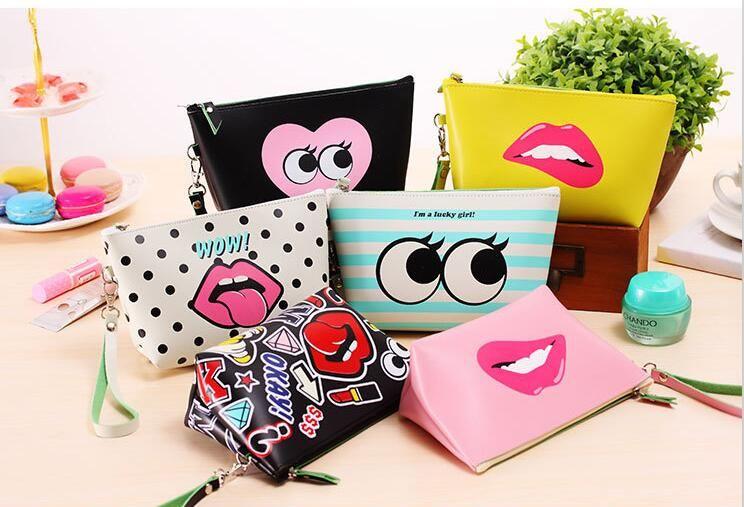 Modem Girls Handbag Pretty Girls Change Purse Women Makeup Bags ...