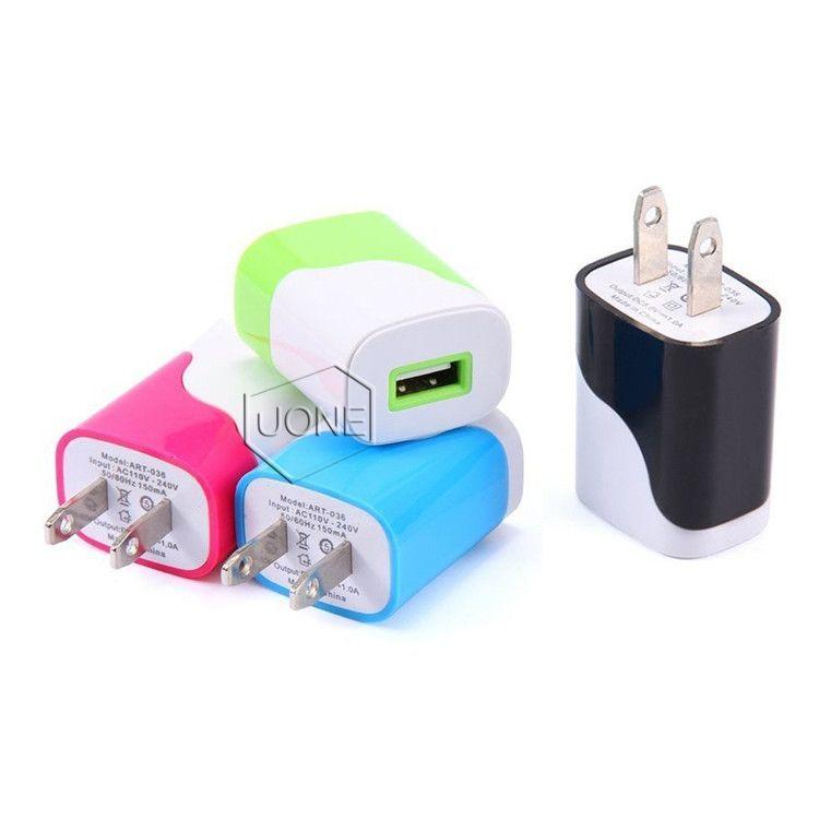 아이폰 6 기가 플러스의 USB 벽 충전기, 삼성 HTC LG MOTO ZTE 등을위한 1A 5V 범용 USB 홈 여행 전원 어댑터 플러그 벽 충전기