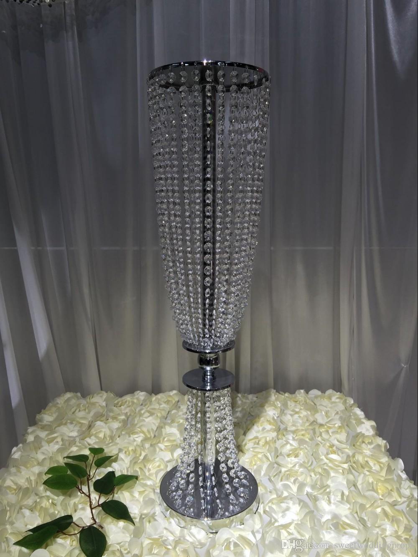 결혼식 피로연 웨딩 테이블 중앙 장식 아크릴 판 크리스탈 신품 도착 신장 80cm