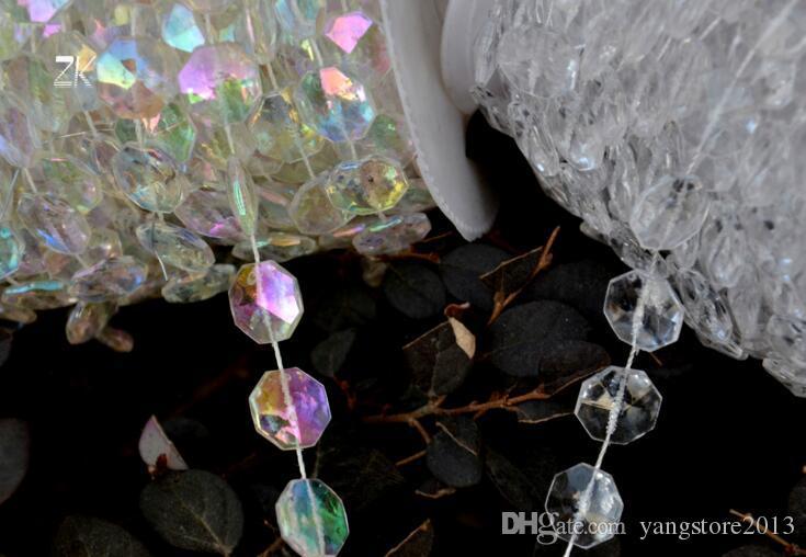 30m DIY schillernder Girlande-Diamant-Acrylkristall bördelt Strang-Schimmer-Hochzeitsdekoration-freien Verschiffenhochzeitsmittelstücke
