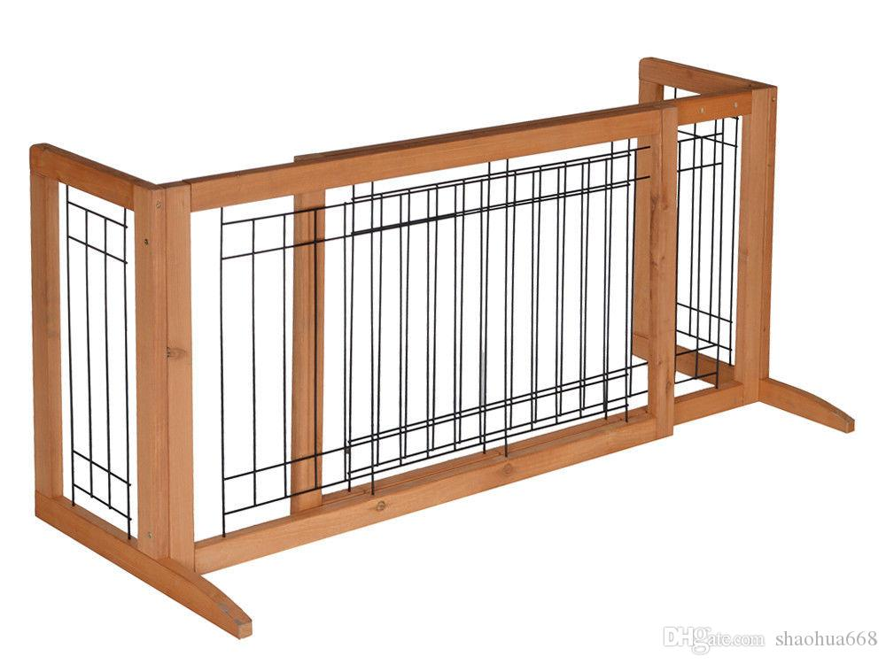 2018 Adjustable Dog Gate Solid Wood Construction Indoor Pet Fence Gate Free  Standing From Shaohua668, $45.13 | Dhgate.Com
