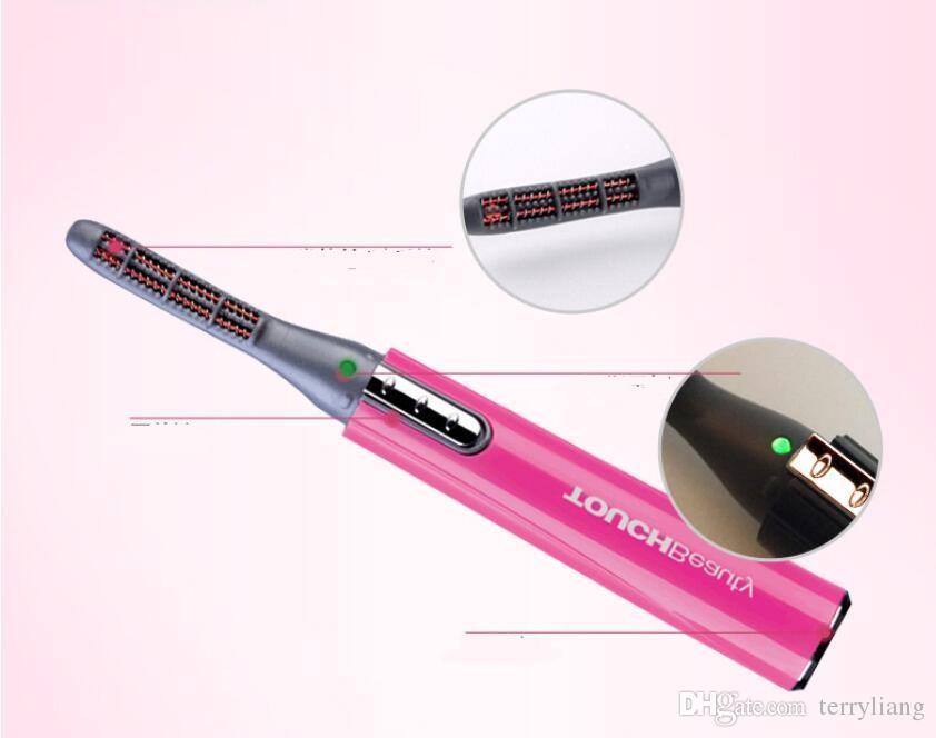 электрический бигуди ресницы с подогревом 15s ручка стиль мини портативный длительный бигуди ресницы макияж инструменты ролик ресницы легко контролировать
