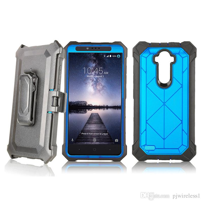 buy online ca780 ae4ed Hybrid Armor Shockproof Robot Case Cover With Belt Clip Without Screen Film  For LG K20 Plus Metropcs Case A