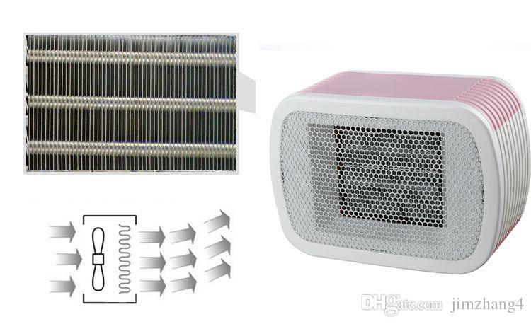 MinF01-6, envío gratis, calentador de espacio cerámico de PTC 220V 500W Calentador de ventilador de escritorio Mini invierno Forced Home Applicance, con enchufe de la UE