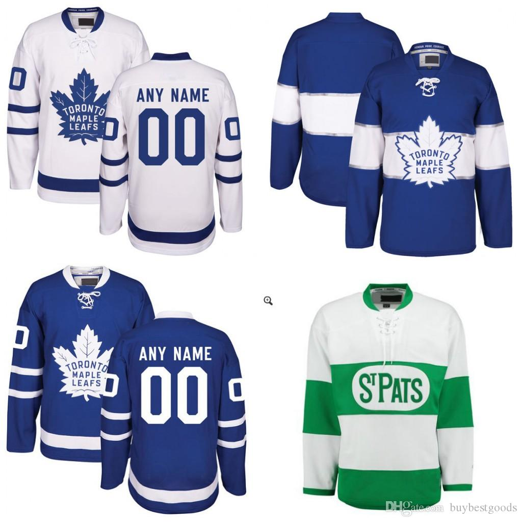 ... Adidas Authentic Home NHL Hockey Jersey 2017 Custom Hockey Jerseys  Toronto Maple Leafs 2017 Centennial Classic St. Pats Home Blue White ... 928b716ee