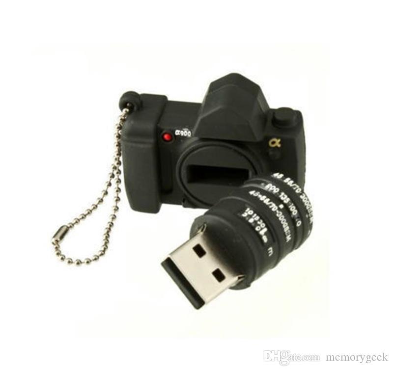 Mini Silikon Kamera Modeli Modeli USB 2.0 Flash Sürücü Noel Hediye 64 GB 16 GB 32 GB Kalem U Sopa Bellek Tam Kapasitesi PC için 64 GB 128 GB 256GB