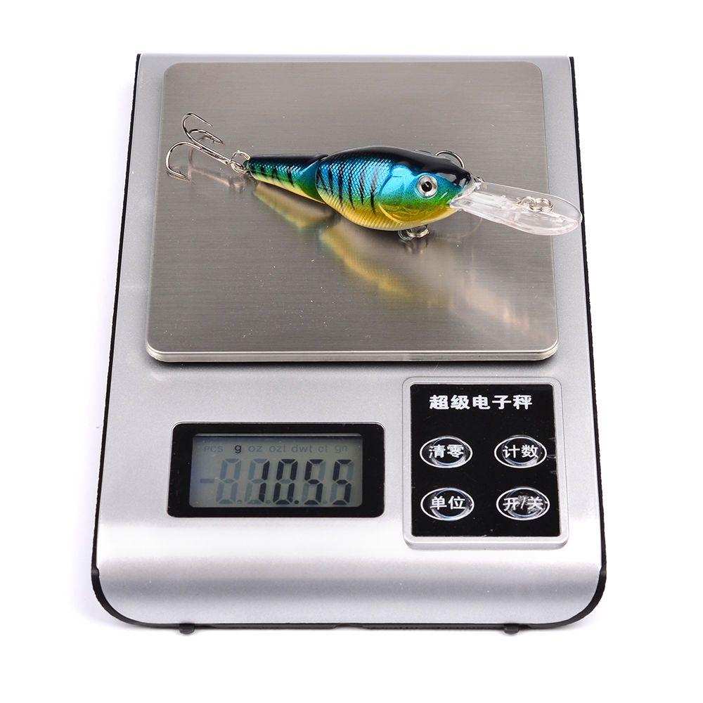 5-cor 9 cm 10.55g Manivela De Plástico Iscas Duras Iscas Ganchos De Pesca 6 # Gancho Artificial Isca de Pesca Equipamento De Pesca acessórios