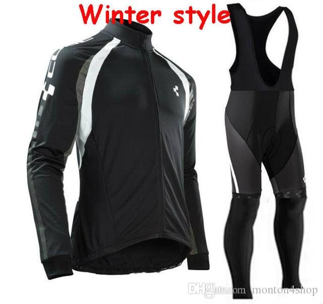 Cube Winter thermal fleece clothes cycling jersey bib pants MTB bicycle wear set ropa maillot ciclismo 2019