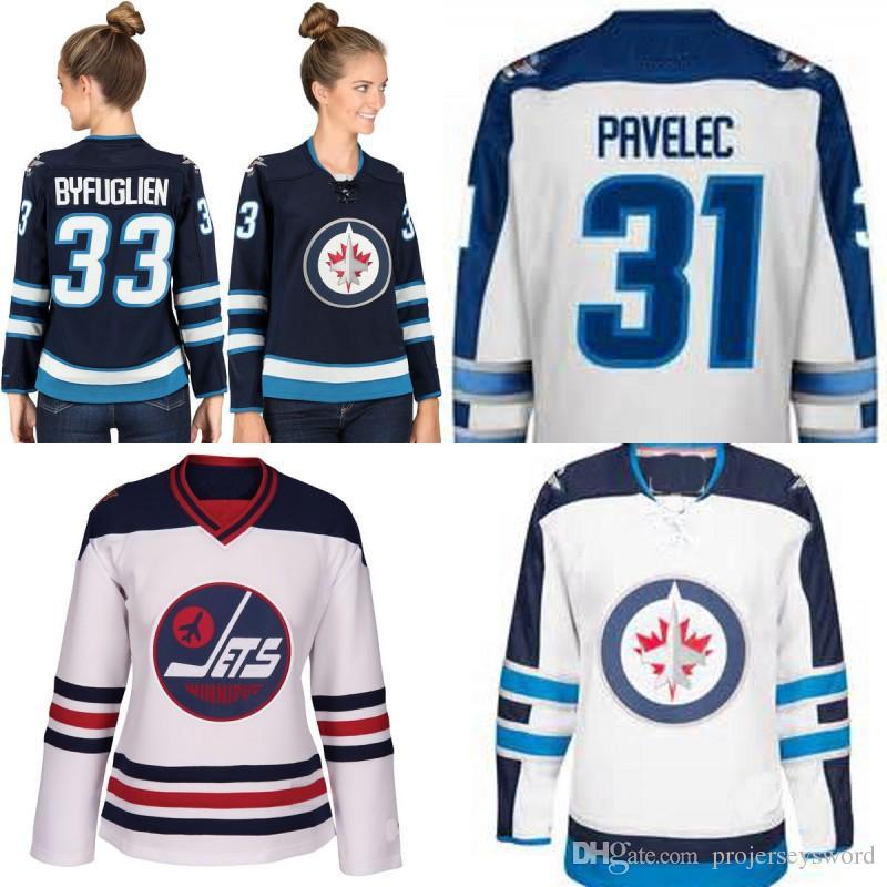 innovative design ca962 8d641 Lady Winnipeg Jets Jersey Men s 27 Nikolaj Ehlers 29 Patrik Laine 33 Dustin  Byfuglien 34 Michael Hutchinson 40 Joel Armia Hockey Jerseys