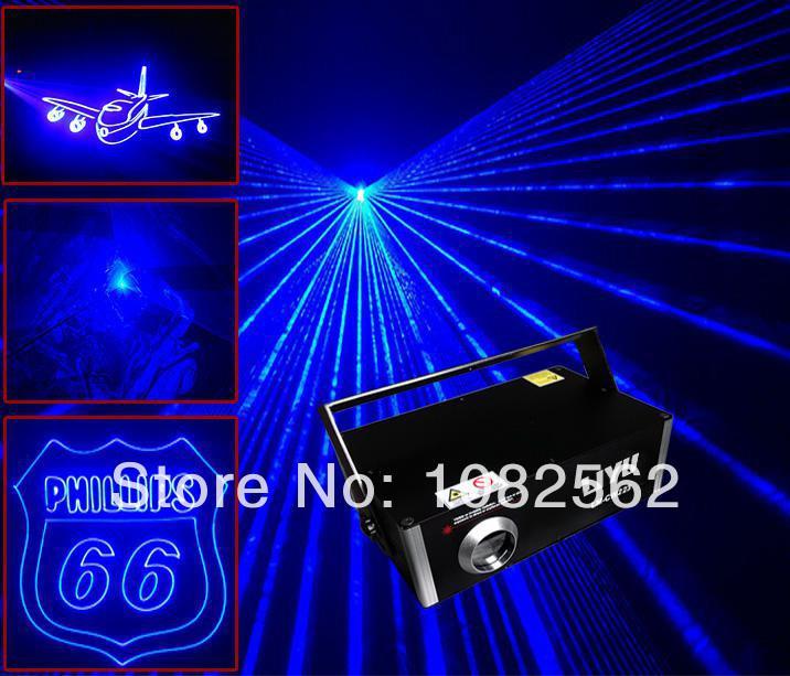 450nm de animación 1W de un solo color Azul ILDA para interiores disco dj control de sistema de luz láser sistema de visualización