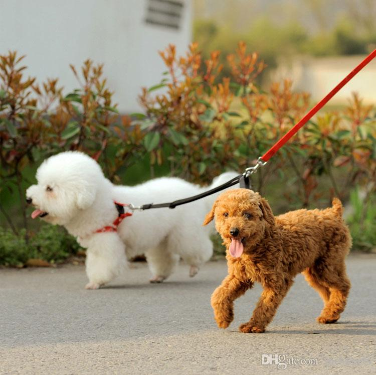 Duplex Double Leash Pet Dog Coupler Twin Lead 2 Way Two Pet Dogs Walking Leash Safety 16090804