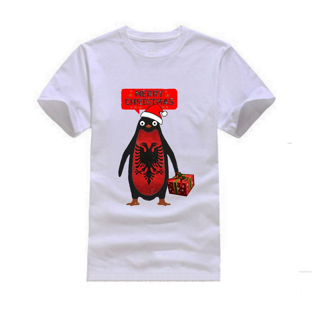 mens albania penguin say merry christmas t shirts short sleeve man clothing latest t shirt designs coolest shirts from goldenharvest 1319 dhgatecom