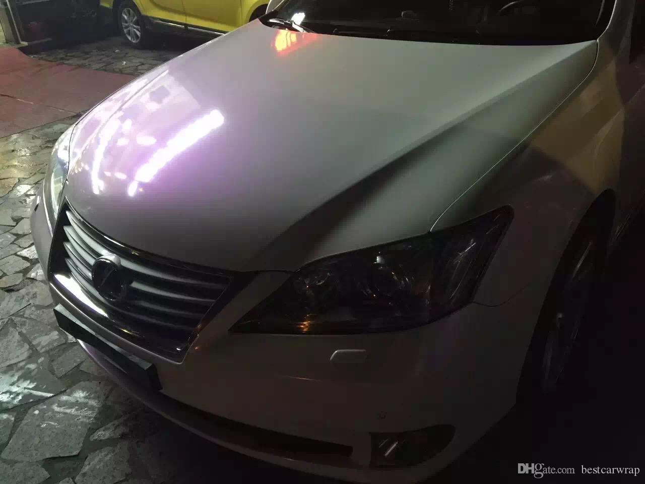 2019 Premium Pearl Gloss White Purple Pearl Car Wrapping