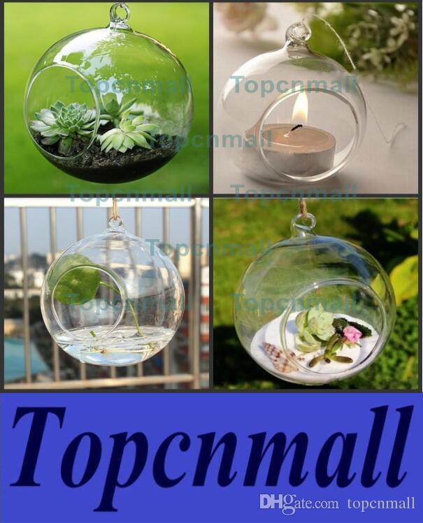 100PCS/box Tea Light Holder/80MM Glass Air Plant Terrariums,Hanging Glass Orb Candle Holder For Wedding Candlestick/Garden Decor/Home Decor